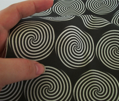 White Spiral Black Background