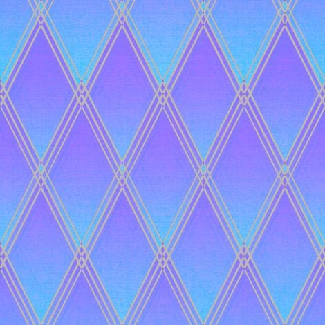Jester's Harlequin Evening Blue fabric by joanmclemore on Spoonflower - custom fabric