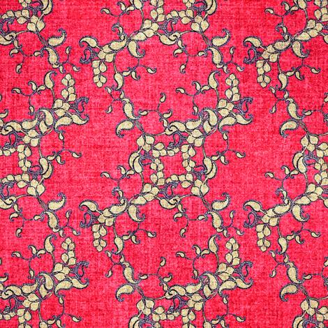 Paisley faux velvet pink fabric by joanmclemore on Spoonflower - custom fabric