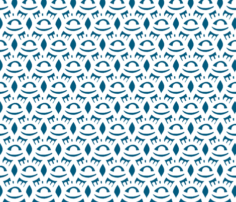 Universe in Steel Blue fabric by dolphinandcondor on Spoonflower - custom fabric