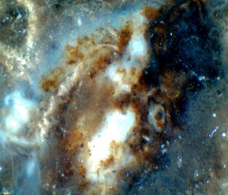 Hubble In Miniature (Galaxy Porcelain Jasper) fabric by prettyrockdesigns on Spoonflower - custom fabric