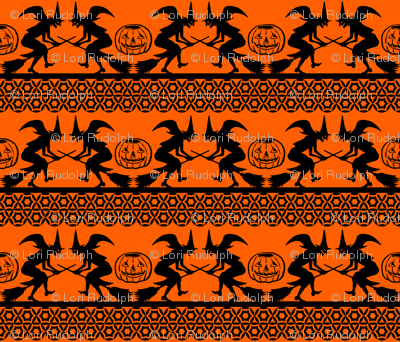 Bewitched ~ Black on Orange