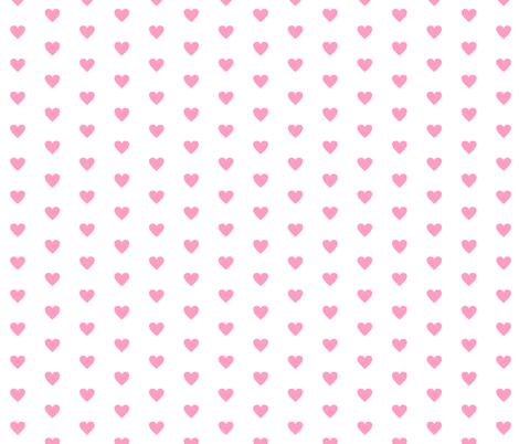 Small Pink Love on White fabric by smuk on Spoonflower - custom fabric