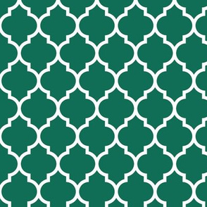 moroccan quatrefoil lattice in emerald