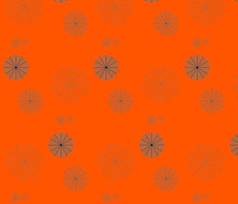 Orange Walking In The Spiderwebs fabric by onestitchdesigns on Spoonflower - custom fabric