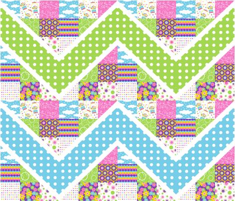 Bubblegum Zig-Zag fabric by holladaydesigns on Spoonflower - custom fabric