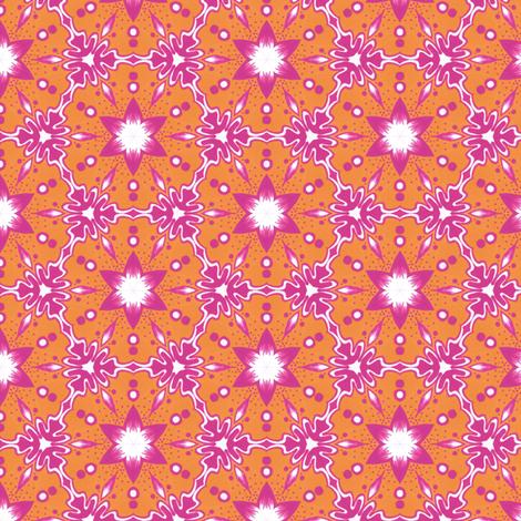 Tropical Summer Flowers fabric by siya on Spoonflower - custom fabric