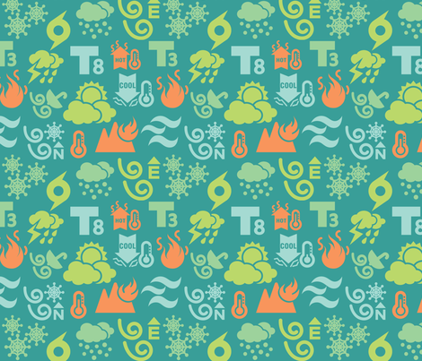 How's the weather out there? fabric by kittenstitches on Spoonflower - custom fabric