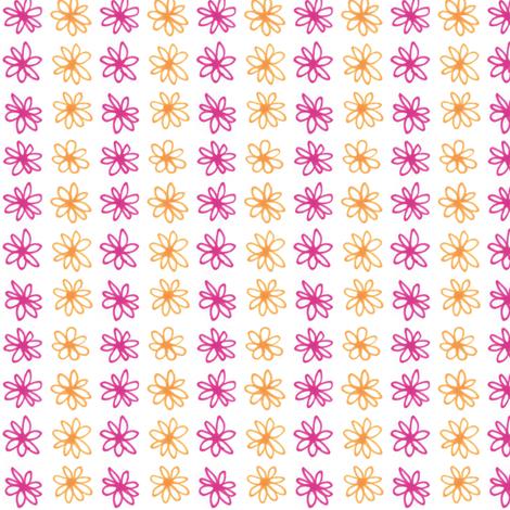 Doodle Daisy Stripe fabric by siya on Spoonflower - custom fabric