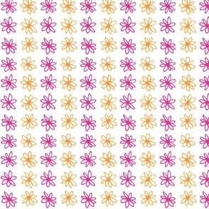 Doodle Daisy Stripe