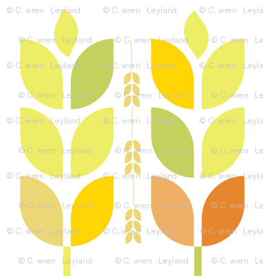 Mod Autumn Leaves and Grain