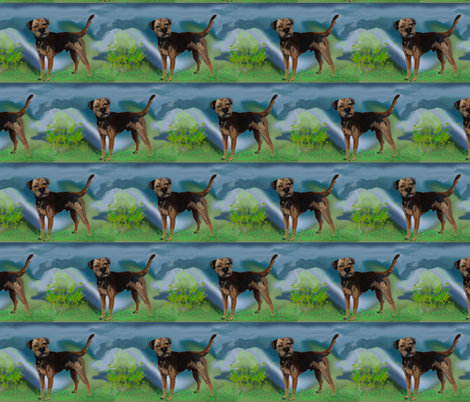 border terrier fabric fabric by dogdaze_ on Spoonflower - custom fabric