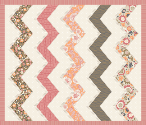 Zig Zag Cheater Quilt fabric by stacyiesthsu on Spoonflower - custom fabric