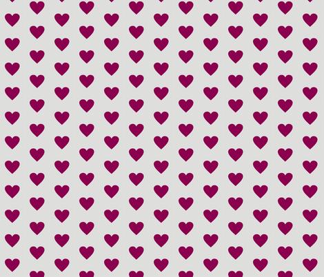 Purple Love on Grey fabric by smuk on Spoonflower - custom fabric