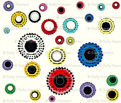 Vintage Button Scatter