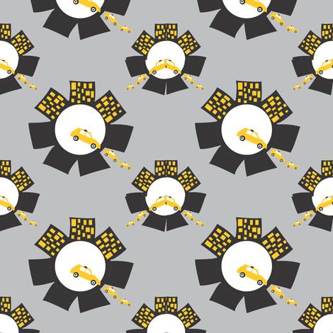 QTM Logo Circle Mirror Brick Grey fabric by quilt_alliance on Spoonflower - custom fabric