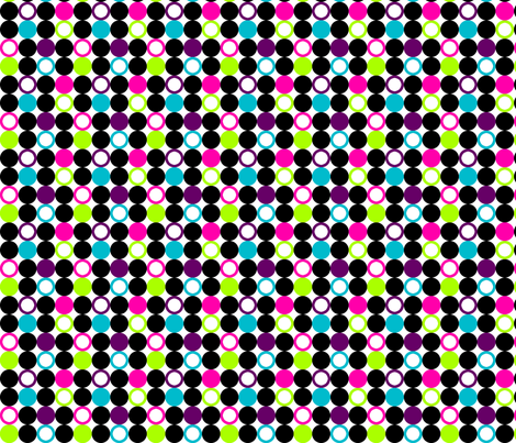 Girls Rock Mod Circles fabric by risarocksit on Spoonflower - custom fabric