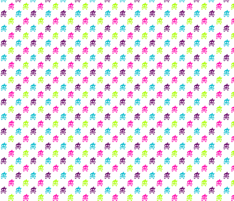 Girls Rock multi-colored skulls fabric by risarocksit on Spoonflower - custom fabric