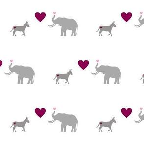 Donkey Elephant Love
