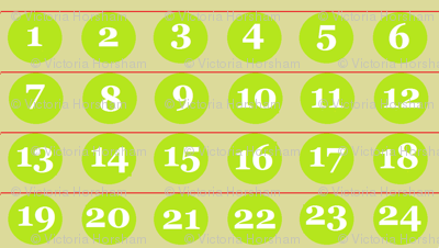 24 Number Advent Baubles