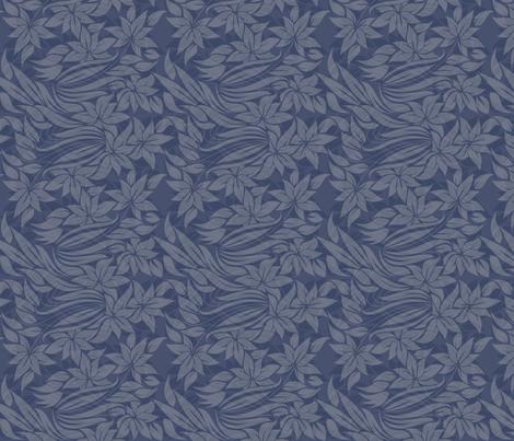 flowers in blue fabric by anastasiia-ku on Spoonflower - custom fabric