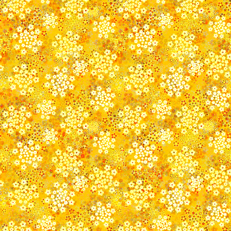 Verbena yellow fabric by joanmclemore on Spoonflower - custom fabric