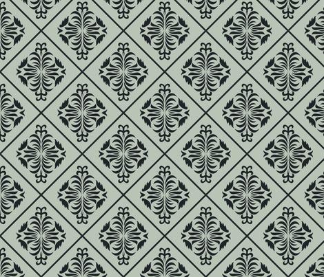 damask vintage pattern fabric by anastasiia-ku on Spoonflower - custom fabric