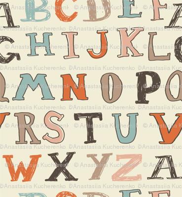 typed alphabet seamless pattern