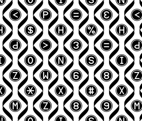ribbons and keys fabric by sef on Spoonflower - custom fabric