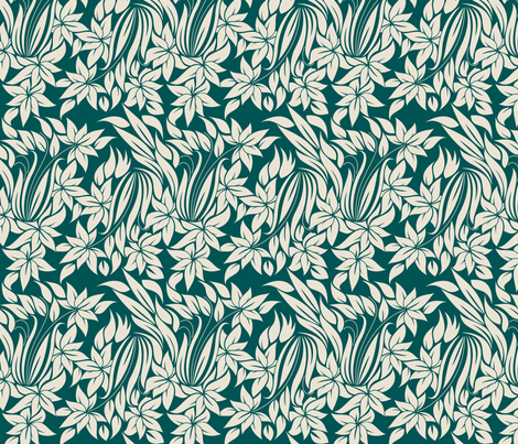 flowers tender pattern fabric by anastasiia-ku on Spoonflower - custom fabric