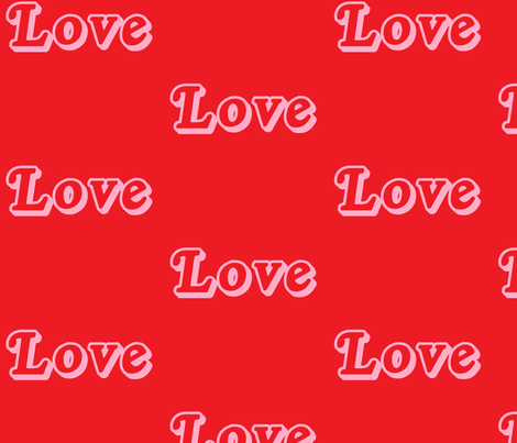 I love Scarlet  fabric by elysesilver on Spoonflower - custom fabric