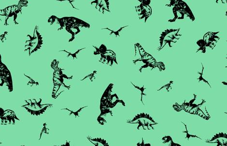 Dinosaurs 7EDDA7 fabric by candyjoyce on Spoonflower - custom fabric