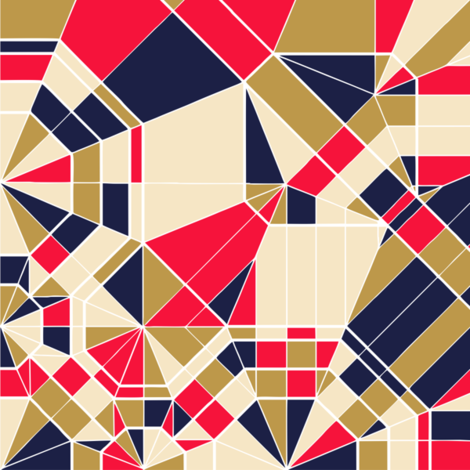 Red, Blue & Gold - Colour Maps fabric by candyjoyce on Spoonflower - custom fabric