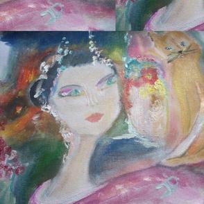 Geisha and puss