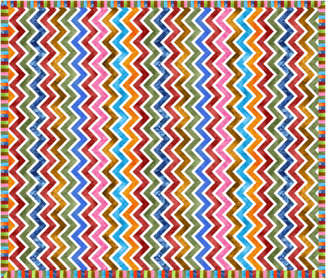 Modern Watercolor Cheater Quilt fabric by vo_aka_virginiao on Spoonflower - custom fabric