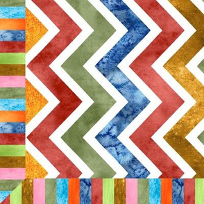 Modern Watercolor Cheater Quilt