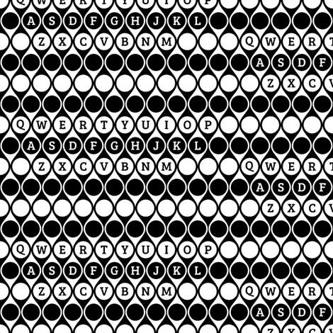 Geometric Letter Keys fabric by modgeek on Spoonflower - custom fabric