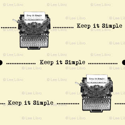 Writer's Rule Keep It Simple