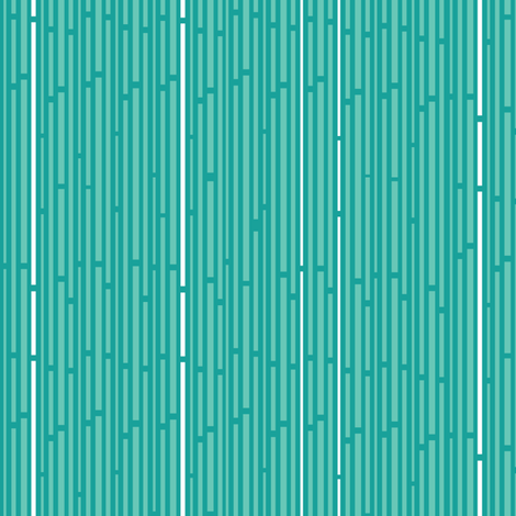 Sunshine Interrupted Stripes in Teal fabric by wildnotions on Spoonflower - custom fabric