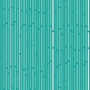 Sunshine Interrupted Stripes in Teal