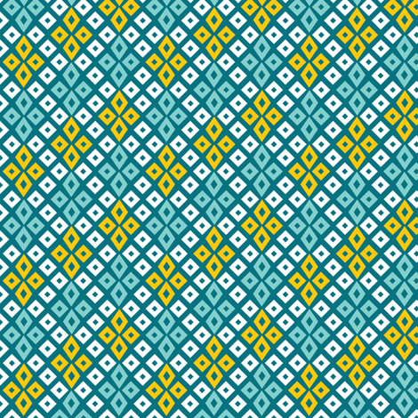 Sunshine Bog Star fabric by wildnotions on Spoonflower - custom fabric