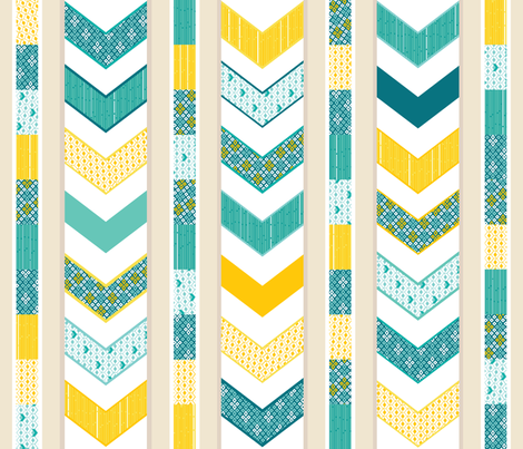 Sunshine Chevron Cheater Quilt fabric by wildnotions on Spoonflower - custom fabric