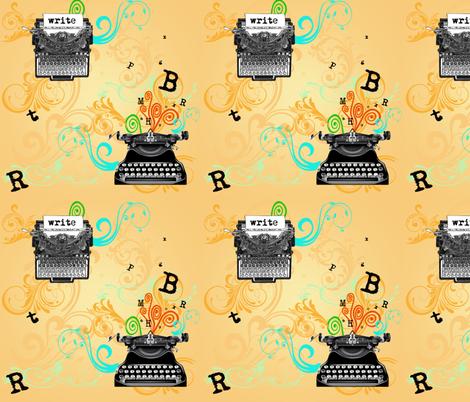 Vintage Typewriters fabric by leahvanlutz on Spoonflower - custom fabric