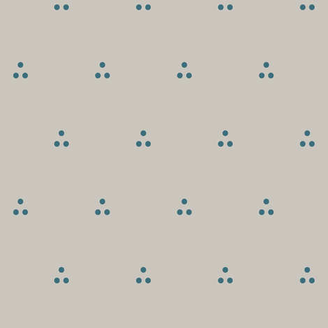 Three Dots Blue on Gray fabric by pond_ripple on Spoonflower - custom fabric