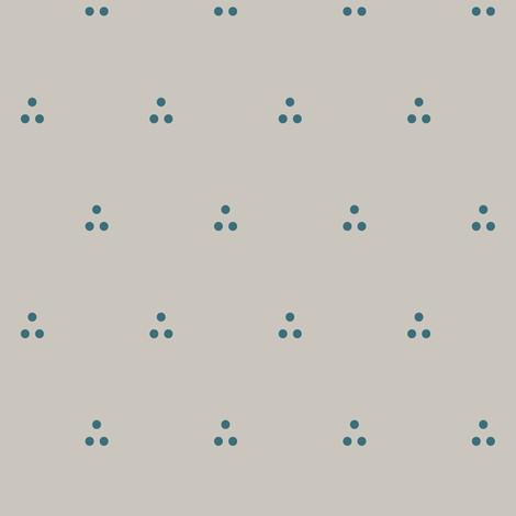 Three Dots Blue on Gray fabric by pond_ripple on Spoonflower - custom fabric