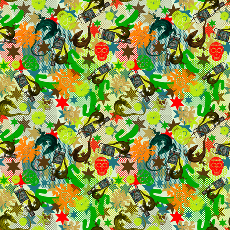 ohhh_tequila fabric by susiprint on Spoonflower - custom fabric