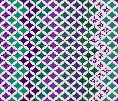 Alexandrite Zig-Zag cheater quilt fabric by katarra on Spoonflower - custom fabric