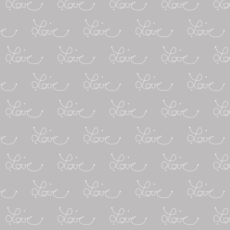 tiny love warm grey fabric by ninaribena on Spoonflower - custom fabric