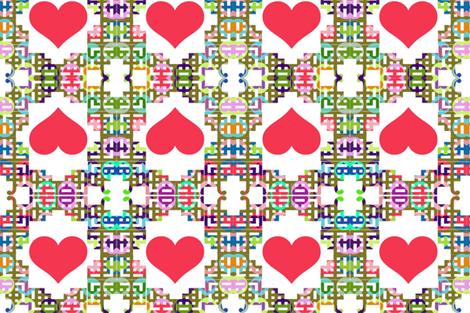 Chinoiserie Valentine fabric by boris_thumbkin on Spoonflower - custom fabric