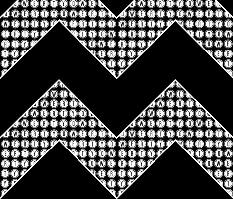 A QWERTY CHEVRON  fabric by paragonstudios on Spoonflower - custom fabric